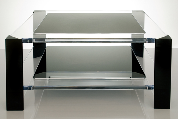 Radiant acrylic cocktail table furniture clue