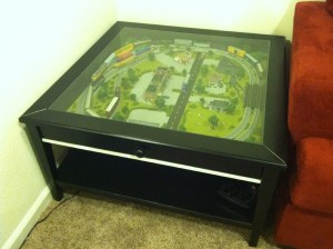 Coffee table train set furniture clue Train table coffee table