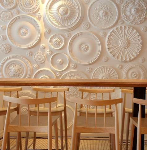 Plaster Art Wall : via Seasonal Home Decoration