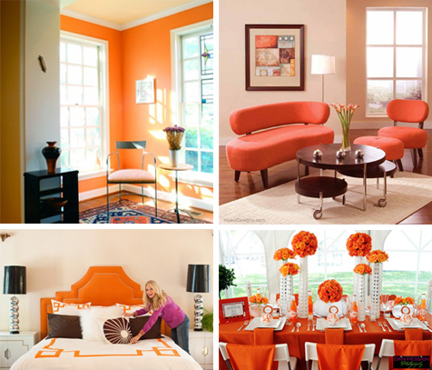Marvelous Orange Room Collage