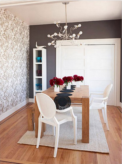wallpaper accent wall love this look furniture clue