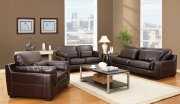 Decca Brown Top Gain Leather Modern Sofa 50215 by Acme Furniture