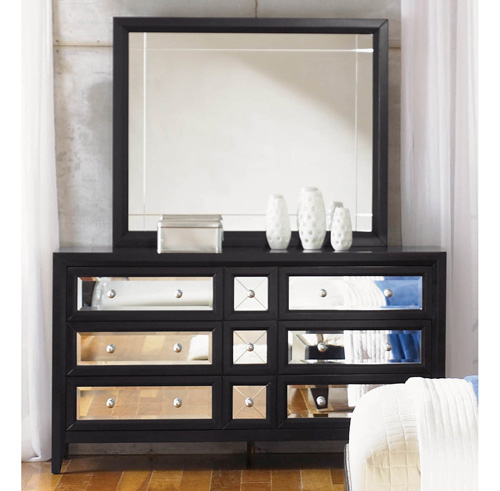 mirrored furniture the reflections bedroom set by najarian furniture