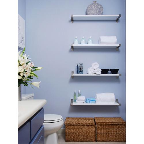 Minimalist Bathroom Checklist: 2014 Interior Design Trends: Floating Shelves
